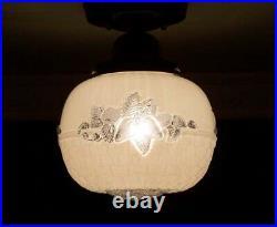 179 Vintage Antique arT Deco Ceiling Light Lamp Fixture Hall Bath porch