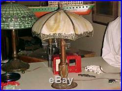 1920 ISCO Art Deco TABLE LAMP CARAMEL SLAG GLASS PENNSYLVANIA ESTATE