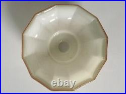 1930s Italian Art Deco Opaline Off White Glass Ceiling Lamp Shade Light Vintage