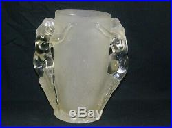 1932 Art Deco Aladdin Electric Lamp G-163 Double Nude Frosted Glass Base Only