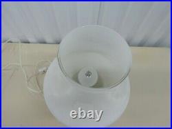 1970's Italian White Murano Mushroom Lamp