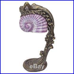 29 Art Deco Siren of the Sea Mermaid Illuminated Sculpture Table Lamp