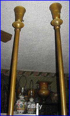 2 Antique Bronze Torchier Floor Lamps Fenton Silver Crest Art Glass Sconce Shade