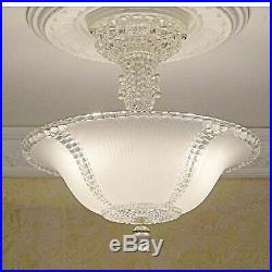355 Vintage antique arT DEco Glass Ceiling Light Lamp Fixture Chandelier