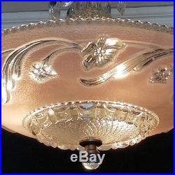 360 Vintage Antique arT DEco Glass Ceiling Light Lamp Fixture Chandelier