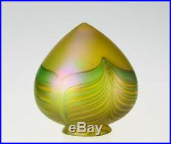 3.25Fitter Hand Blown Bullet Glass Shade Iridescent Art Nouveau Lamp Shade