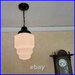 517b High Quality aRT DEco CEILING LIGHT lamp fixture glass shade pendant
