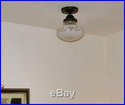 568 Vintage antique aRT Deco Ceiling Light Lamp Fixture bath hall kitchen porch