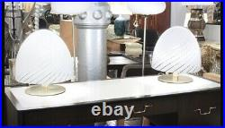 70's Italian Murano Swirled Art Glass Vetri Murano Egg Extra Large Lamp Shade