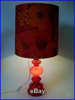 70s Tisch Lampe Pop Art Glas 84 cm big flower power bubble glass lamp annees 70