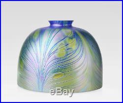 7 Art Nouveau Replacement Shade Blown Glass Iridescent Lamp Shade 2.25 Fitter
