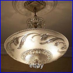 929x Vintage Antique arT DEco Ceiling Light Lamp Fixture Chandelier
