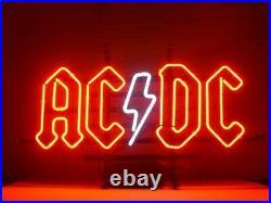 AC DC ACDC Neon Lamp Sign 20x16 Bar Light Decor Glass Artwork Decor