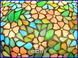ALL ORIGINAL HANDEL Signed Arts Crafts Leaded Glass Apple Blossom Lamp 19 Shade