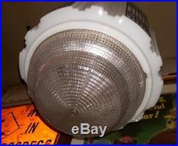 Antique Architectural Skyscraper Light Lamp Glass Globe Shade Art Deco Fixture