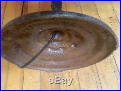 Antique Art Nouveau Cast Iron Bridge Floor Lamp Vaseline Glass Jadeite Exco 379