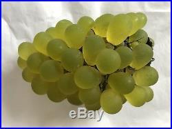 Antique Art Nouveau Czech Glass Grape Cluster Fruit Figural Lamp Shade Uranium