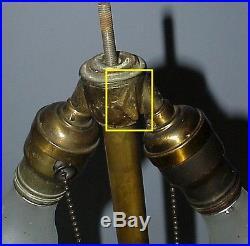 Antique Bradley Amp Hubbard Arts Amp Crafts Leaded Slag