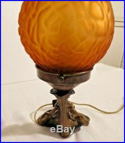 Antique Carnival 1909 New York Art Deco Lady Figural Lamp #1960