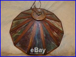 Antique Shop of the Crafters, Arts and Crafts Mission Era Chandelier Lamp Light