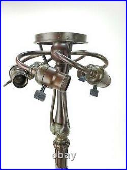 Antique Tiffany Studios Bronze Lamp Base ca1905