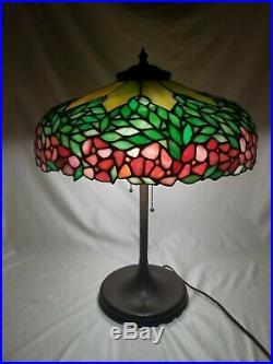 Antique Unique Art Glass company Leaded Lamp Tiffany Handel Wilkinson era