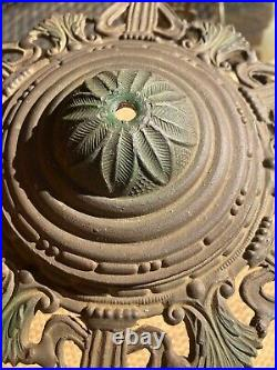 Antique Victorian Art Nouveau 6 Panel Slag Glass Lamp Shade