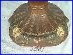 Antique Victorian Art Nouveau Stained Slag Glass Lamp