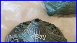 Antique Weidlich Bros Mfg Co Perfume Lamp 1920s Art Glass iridescent Deco Durand