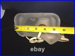 Art Deco Frosted Glass Table Lamp of Nude Woman Lady Figure for Boudior Vanity