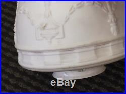 Art Deco Satin Milk Glass Shade Ceiling Light Fixture Lamp, Brass pendant