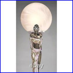 Art Deco Style Twin Maidens 17.5 Sculpture Table Lamp By By Artist Erte