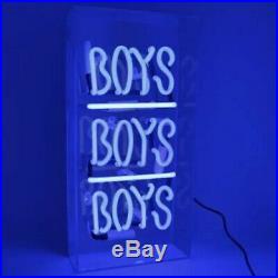 Art Neon Glass Sign GIRLS/BOYS Lamp Light Wall Decoration Advertising