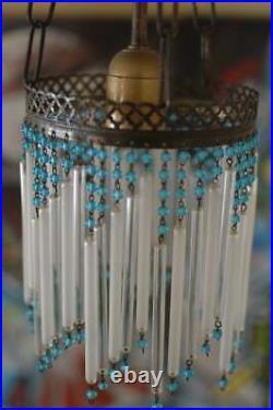 Art nouveau chandelier lamp. Complete