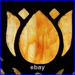 Arts & Crafts Art Nouveau Handel Whaley Tiffany Stained Glass Lamp Shade Tulips