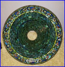 Arts & Crafts Bigelow & Kennard Leaded Slag Stained Glass Table Lamp -Handel Era