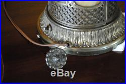 Arts & Crafts, Nouveau, B&H, Handel Era Lighthouse, Stained, Leaded Slag Glass Lamp