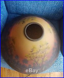 Arts & Crafts, Pairpoint, Handel Era, Classique Reverse Painted Art Glass Lamp