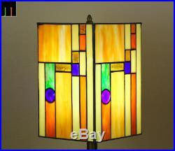 Artwork Tiffany Lantern Stained Glass Bedside Side Table Desk Lamp Light Deco