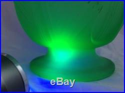 BAGLEY GLASS'TULIP' LAMP 1930s Art Deco Uranium Green Glass