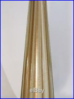 BAROVIER & TOSO VINTAGE SCULPTURAL ITALIAN ART GLASS TABLE LAMP 1950s