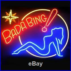 Bada Bing Girl Neon Light Sign 20x16 Beer Cave Gift Lamp Bar Artwork Glass