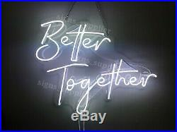 Better Together Neon Light Sign Acrylic Lamp V Glass Artwork Bedroom With Dimmer
