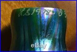 Buffalo Metal Works Bronze Tiffany Style Pond Lily Lamp 12 Art Glass Shades