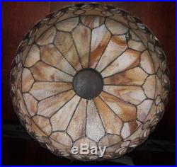C1910 Art Nouveau Leaded Glass Lamp Shade style of Duffner & Kimberly
