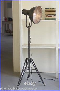 Caged Studio Floor Lamp Industrial Warehouse Vintage Style Light Adjustable