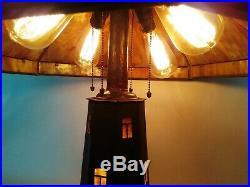 Charles Limbert Windmill Lamp Mission Arts Crafts Tiffany Roycroft Stickley Era