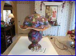 Charles Lotton Cypriot Multi Flora Art Glass Lamp $5,000.00