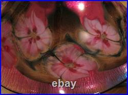 Charles Lotton Fuchsia Multi-Flora Lamp SIGNED 1990