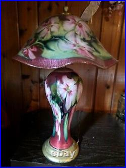 Charles lotton hand blown glass lamp